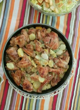 صينية دجاج وبطاطا بالفرن يممممي بالصور من رينا من كوكباد Recipe Food Chicken Meat
