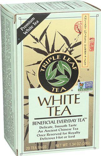Triple Leaf Tea White Tea 20 Tea Bags Triple Leaf Tea Jasmine Green Tea Decaf Green Tea