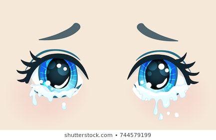 Colorful Beautiful Eyes In Anime Manga Style With Shiny Light