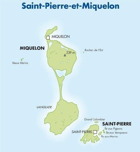 Saint Pierre And Miquelon Map SaintPierreetMiquelon 聖皮耶 - Saint pierre and miquelon map