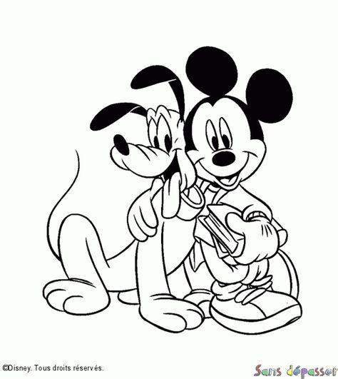 Coloriage Pluto Et Mickey Coloriage Mickey Coloriage Spiderman