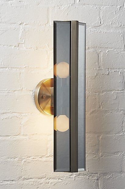 Straight And Narrow Simple Metal And Glass Sconces Shed Light