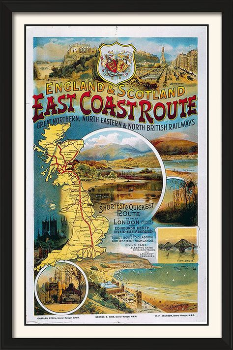 British Railways East Coast Route Vintage Poster Art 11 X 17 In 2020 Vintage Poster Art Vintage Posters Art Poster Design