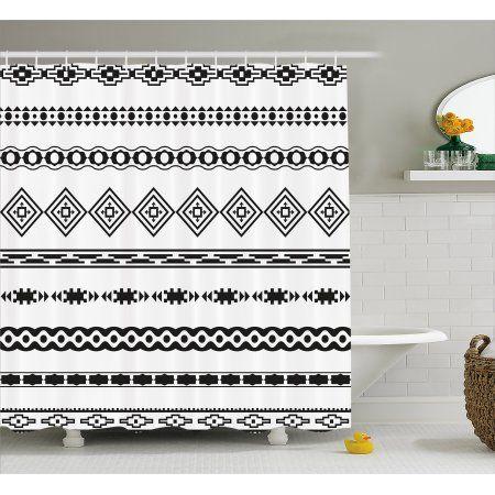 Native American Shower Curtain, Ethnic Abstract Geometric ... on set sofa designs, set bathroom accessories, set bathroom christmas, set bedroom,