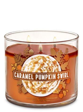 Caramel Pumpkin Swirl 3 Wick Candle Bath Body Works Pumpkin Caramel Bath Candles Bath Body Works Candles