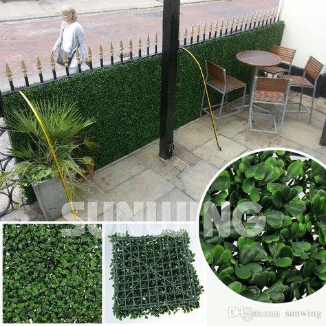 Compre Envio Libre Artificiales Setos Del Jardin Plantas 50x50cm