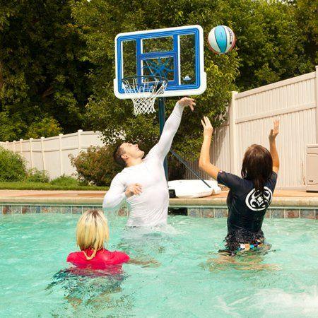 Lifetime 44 Acrylic Pool Side Portable Height Adjustable Basketball System 1306 Walmart Com Pool Basketball Basketball Systems Pool Basketball Hoop