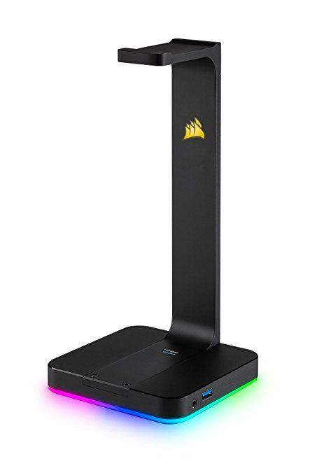 Premium Rgb Gaming Headset Stand With 7 1 Surround Sound Headphone Audio Gift Guide For Teenage Boys F Headset Stand Diy Headphone Stand Headphone Stands