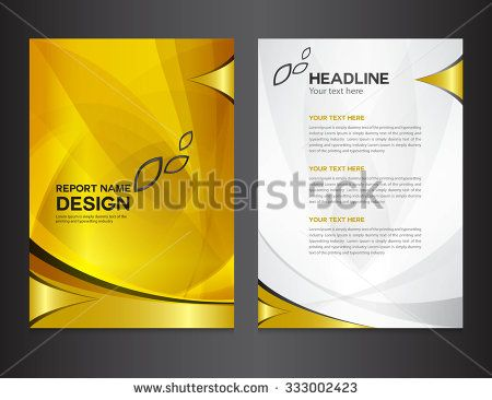 Gold Annual Report Template Vector IllustrationCover Design