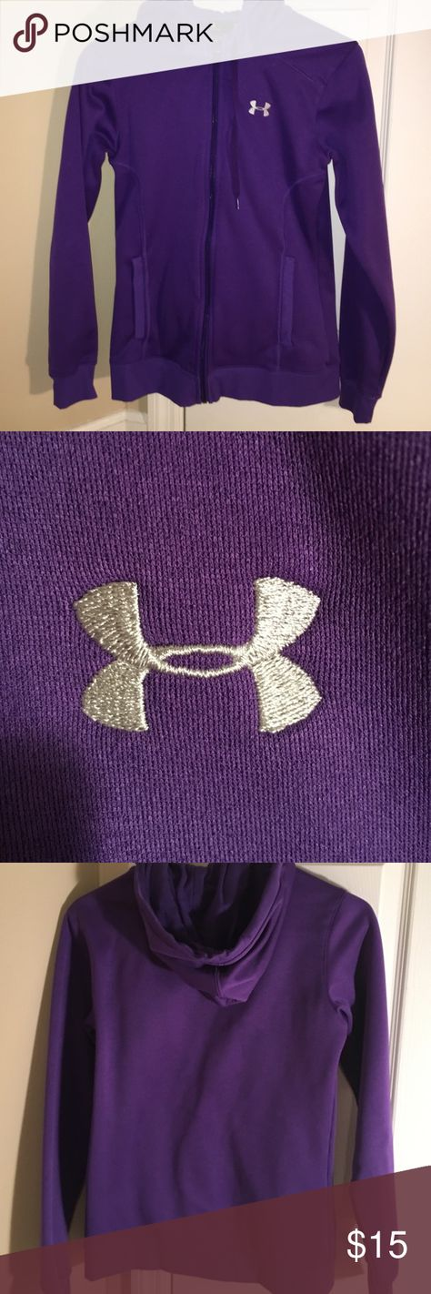 UA Purple Zip Up Hoodie In GREAT Condition! Fits semi-fitted. Very soft, and only worn a couple of times! No sign of damage! Under Armour Tops Sweatshirts & Hoodies
