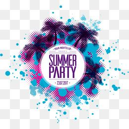 Vector Material Summer Party Beach Party Coconut Decoration Summer Vector Beach Vector Party Vector Summer Clipart Beach C Party Clipart Party Icon Party Logo