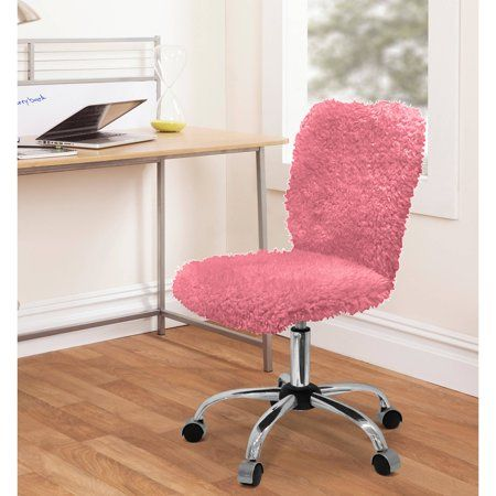 Urban Shop Faux Fur Armless Swivel Task Office Chair Multiple Colors Walmart Com Cute Desk Chair Girls Desk Chair Kids Desk Chair