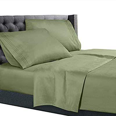 Amazon Com Nestl Bedding 3 Piece Sheet Set 1800 Deep Pocket Bed