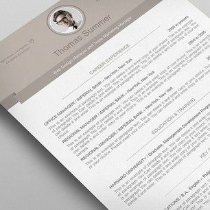 modern resume template premium line of resume cover letter