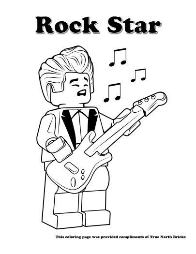Coloring Page Rock Star True North Bricks Star Coloring Pages Lego Coloring Pages Coloring Pages