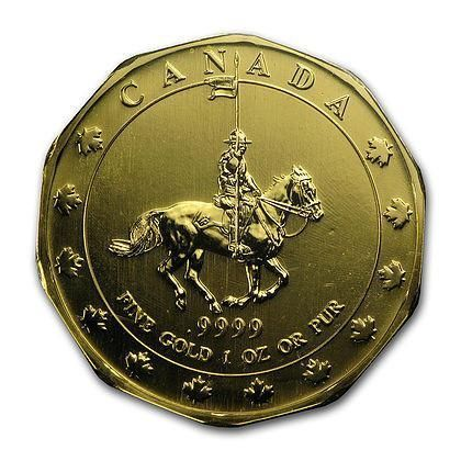1997 Rcm 1 Ounce Canadian Mountie Maple Leaf Gold Coin Sealed Assay Art In Coins Goldcoins Gold Coins Gold And Silver Coins Maple Leaf Gold