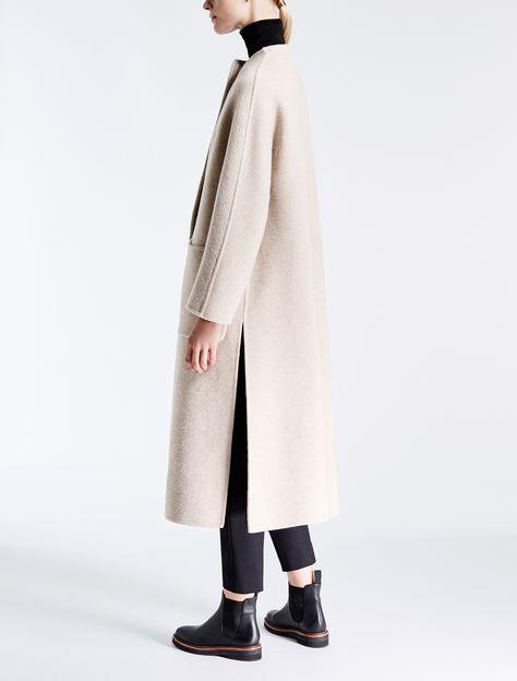Pure cashmere coat, white -