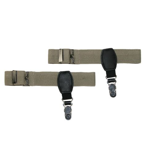 CTM Mens Canvas Button-End Old West Braces Tall Available