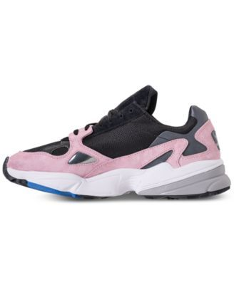 5d4415a0dd91 adidas Women s Originals Falcon Suede Casual Sneakers from Finish Line -  Black 9.5