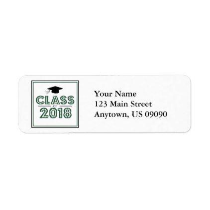 Graduation Return Address Label Mailing Labels Thank You Stickers Grad Gift Address Labels