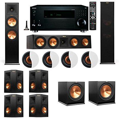 Amazon Com Dolby Atmos 7 2 4 Klipsch Rp 280f Tower Speakers