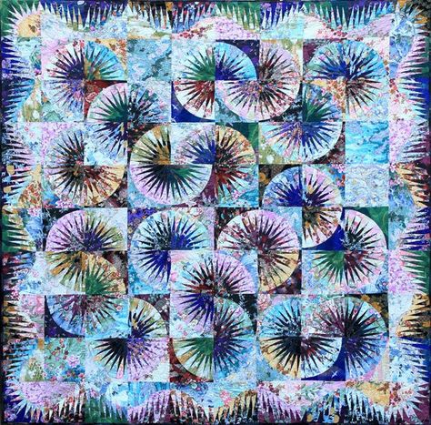 Japanese Fan ~ Quiltworx.com, made by Certified Instructor, Shirley Scott