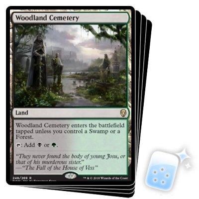 NM-Mint English 1x Woodland Cemetery Dominaria