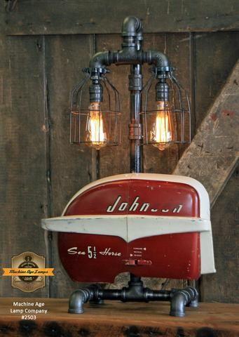 Steampunk Industrial Boat Motor Johnson Nautical Marine Cabin Lamp 2503 Cabin Lamps Lamp Nautical Marine