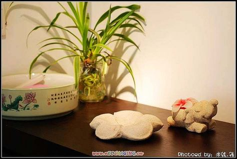 stone craft, flower and elephant from thailand