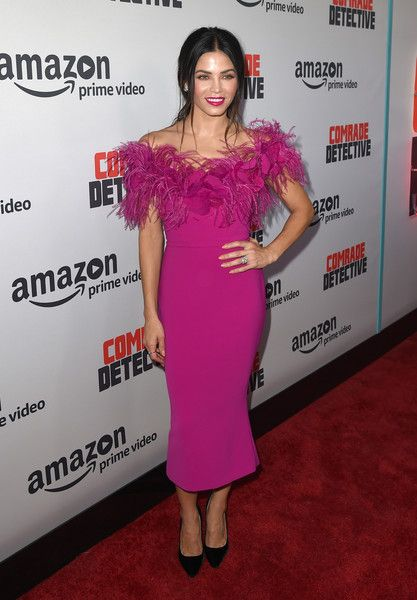 "Actress Jenna Dewan Tatum arrives at the premiere of Amazon's ""Comrade Detective"" at the Arclight Theatre on August 3, 2017 in Los Angeles, California."
