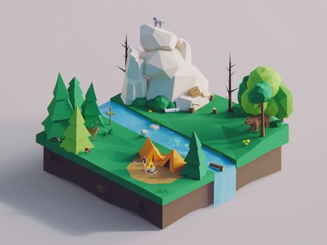Low Poly Words: Forest