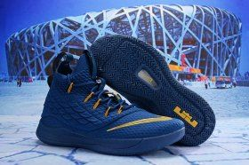 a50a1a30653 Nike LeBron 15. 5 Blue Gold James Trainers Men s Basketball Shoes ...