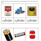 I created these three part cards for my 1st, 2nd & 3rd grade Montessori students to use when relating geometric solids to real life objects. St...