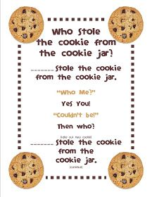 Who Stole The Cookie From The Cookie Jar Song Mesmerizing Chalk Talk A Kindergarten Blog Back To School Who Stole The Inspiration