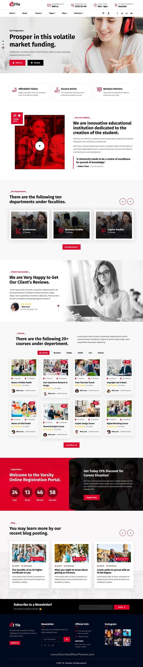 YLE Education and LMS HTML Template