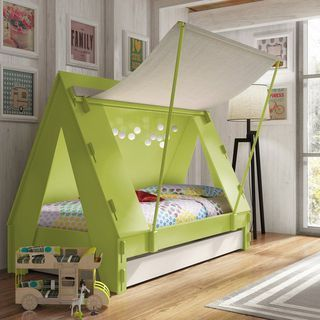 Kids Tent Cabin Canopy Bed的图片 Bed Tent Diy Kids Bed Toddler Bed Tent