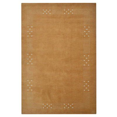 Get My Rugs Solid Hand Knotted Gold Area Rug