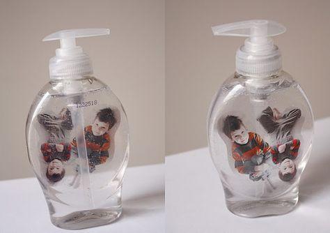 floating kids in a soap bottle.  cute DIY gift idea!
