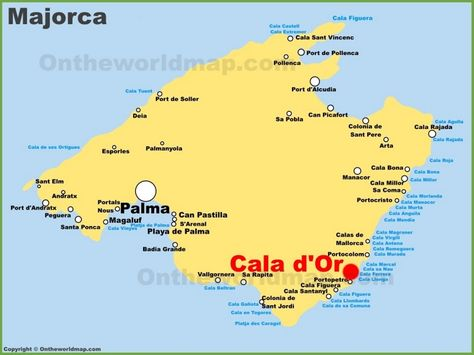 List of Synonyms and Antonyms of the Word majorca map