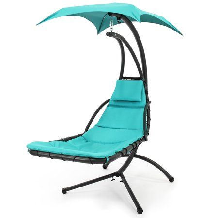 Patio Garden Lounge Chair Outdoor Chaise Lounge Chair Hanging Hammock Chair