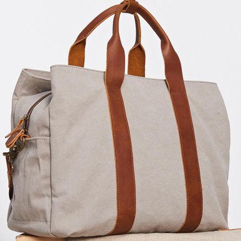 b9a48949f Mens Leather Canvas Travel Bag Canvas Handbag Canvas Weekender Bag for –  iwalletsmen
