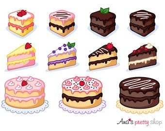 Cake Clipart Bakery Clipart Pastry Clipart Wedding Cake Birthday Party St Valentines Sweet Clipart Dessert Clipart Vector Graphics Cake Clipart Desserts Drawing Food Clipart