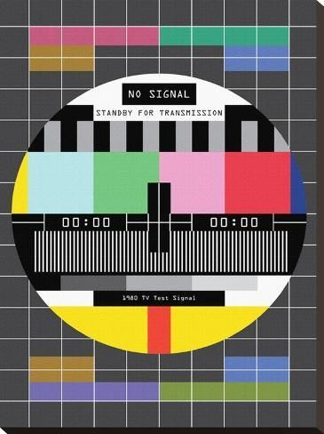 Stretched Canvas Print: SALE TV Signal by Patricia Pino : 29x22in