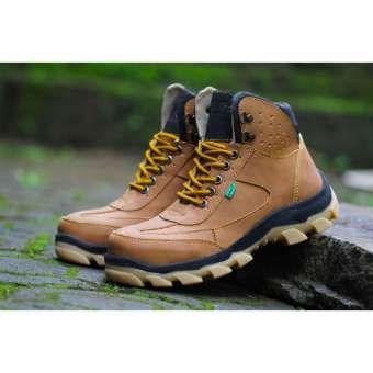 Sepatu Boots Pria Sepatu Veroz Safety Ujung Besi Tan Sepatu