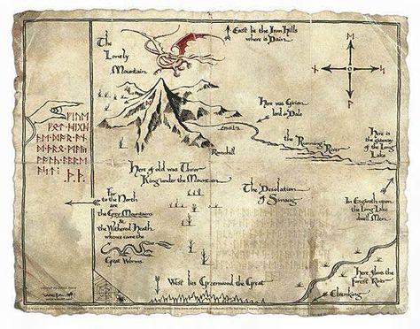 Erebor Map Karte Von Mittelerde Posterdrucke Tolkien