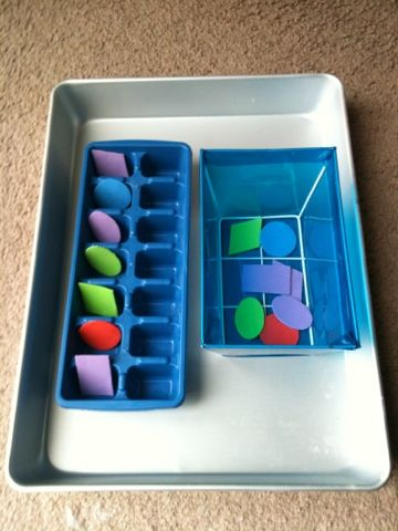 Toddler Tray - Matching: http://fortheloveoflearningblog.blogspot.com