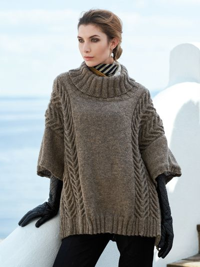 Andor Pullover Knit Pattern from Annie's Craft Store. Order here: https://www.anniescatalog.com/detail.html?prod_id=144581&cat_id=469