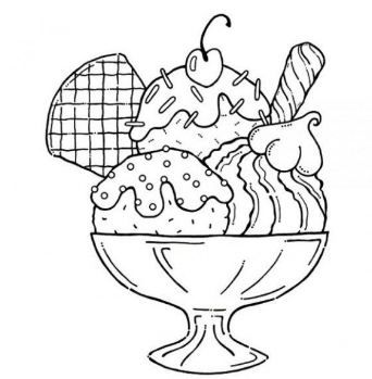 Ice Cream Cone Colouring Pages Halaman Mewarnai Objek Gambar