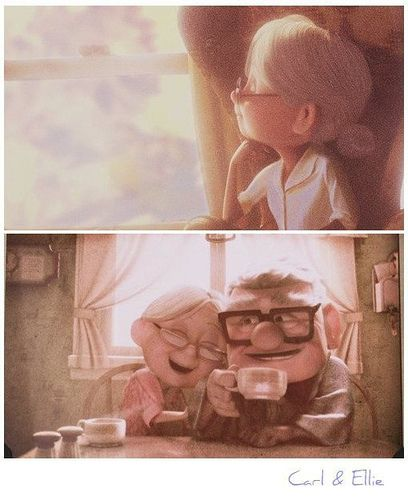 If I grow old and am as happy as Ellie and Carl...I'll be golden :)