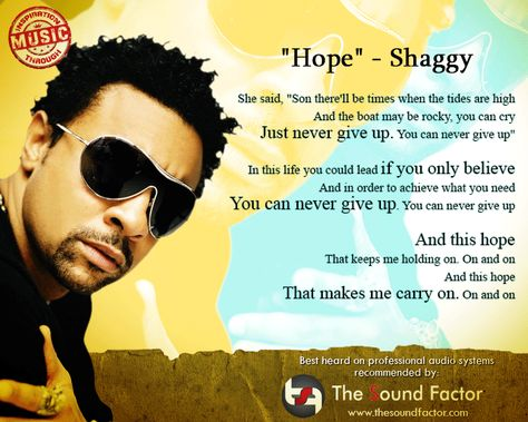 Hope This Motivational Song By Shaggy Motivational Songs